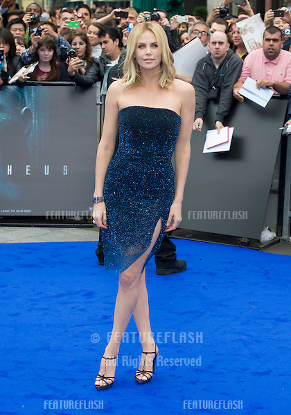 Charlize Theron arriving for the World Premiere of Prometheus, Empire Cinema in Leicester Square. 31/05/2012 Picture by: Simon Burchell / Featureflash