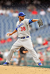 5 September 2011: Los Angeles Dodgers pitcher Ramon Troncoso on the mound against the Washington Nationals at Nationals Park in Los Angeles, District of Columbia. The Nationals defeated the Dodgers 7-2 in the first game of their 4-game series. Mandatory Credit: Ed Wolfstein Photo