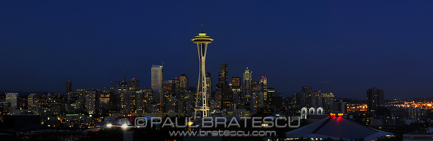 Space Needle, Seattle, Washington, Pacific Science Center Large Panoramic 12,454 x 4080 (26.1MB)