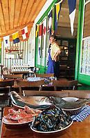 """Europe/France/Aquitaine/33/Gironde/Bassin d'Arcachon/Le Cap Ferret: Moules maison et pêche du jour au restaurant """"Chez Hortense"""" [Non destiné à un usage publicitaire - Not intended for an advertising use] [Non destiné à un usage publicitaire - Not intended for an advertising use]"""
