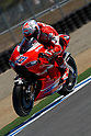 July 24, 2010 - Laguna Seca, USA - Ducati's Australian rider, Casey Stoner, powers his bike during a practice run prior to the U.S. Grand Prix held on July 25, 2010. (Photo Andrew Northcott/Nippon News)