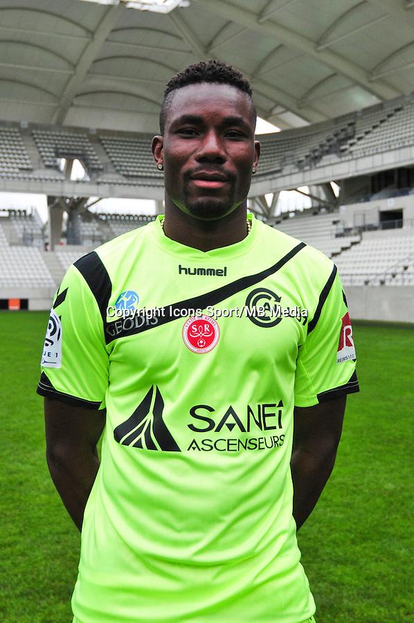 Kossi Agassa - 21.10.2014 - Photo officielle Reims - Ligue 1 2014/2015<br /> Photo : Philippe Le Brech / Icon Sport