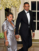 Grant Hill, Former Basketball Player, Member of The President&rsquo;s Council on Fitness, Sports &amp; Nutrition and Tamia Hill arrives for the State Dinner in honor of Prime Minister Trudeau and Mrs. Sophie Gr&eacute;goire Trudeau of Canada at the White House in Washington, DC on Thursday, March 10, 2016.<br /> Credit: Ron Sachs / Pool via CNP