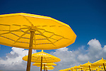 Yellow sunshade, Algarve Portugal