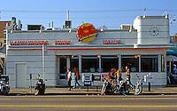 "Googies: Hamburger Place  ""Johnny Rockets"", Melrose, Los Angeles.  Photo '91."