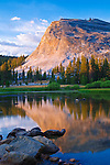Evening light on Lembert Dome and the Tuolumne River, Tuolumne Meadows, Yosemite National Park, California USA