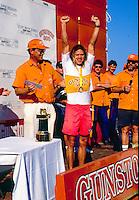 Brad Gerlach (USA) after winning the Gunston 500 at Durban South Africa. circa 1991 Photo: joliphotos.com