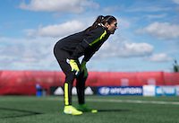 Edmonton, Canada - June 20, 2015:  The USWNT trained in preparation for their round of 16 game in the FIFA Women's World Cup.