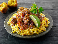 Lamb Bhuna curry,  Indian food stock pictures, photos fotos & images