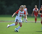 Ole Miss' Jennifer Miller (22) vs. Louisiana-Lafayette in college soccer action at the Ole Miss Soccer Stadium in Oxford, Miss. on Sunday, August 26, 2012. Rafaelle Souza delivered her fourth goal of the season in the 12th minute for Ole Miss (4-0).