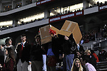 Students wear boxes on their heads at Ole Miss vs. Louisiana Tech in Oxford, Miss. on Saturday, November 12, 2011.  louisiana Tech won 27-7, dropping Ole Miss to 2-8 on the season.