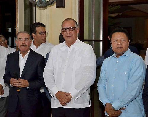 Danilo Medina, Fernando Capellán y Monchy Rodriguez
