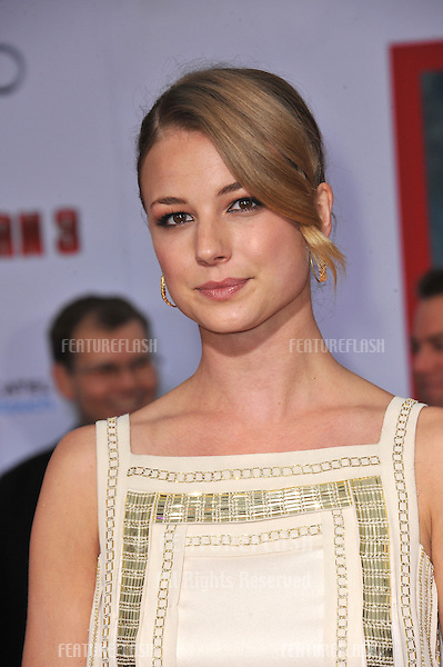 "Emily VanCamp at the Los Angeles premiere of ""Iron Man 3"" at the El Capitan Theatre, Hollywood..April 24, 2013  Los Angeles, CA.Picture: Paul Smith / Featureflash"