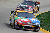 30 March - 1 April, 2012, Martinsville, Virginia USA.Kyle Busch, M&M's Toyota Camry, Denny Hamlin, FedEx Freight Toyota Camry.(c)2012, Scott LePage.LAT Photo USA