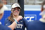 12 May 2016: Pitt's McKayla Taylor. The Florida State University Seminoles played the University of Pittsburgh Panthers at Dail Softball Stadium in Raleigh, North Carolina in a 2016 Atlantic Coast Conference Softball Tournament quarterfinal game. Florida State won the game 8-0 by run rule with one out in the bottom of the sixth inning.