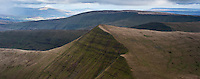 Scenic view of Cribyn and mountains of Brecon Beacons national park, Powys, Wales
