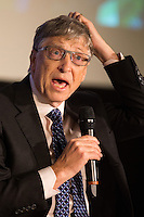 Bill Gates attends ' think tank Friends of Europe ' event in Brussels - Belgium