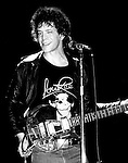 Lou Reed winking while performing at the Bottom Line, NYC, May 1978