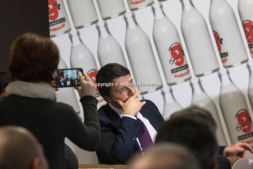 Il Premier Renzi in visita alla Granarolo
