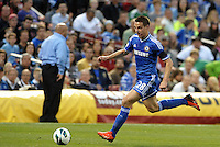 Cesar Azpilicueta (28) Chelsea in action..Manchester City defeated Chelsea 4-3 in an international friendly at Busch Stadium, St Louis, Missouri.