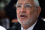 Egyptian Islamist presidential candidate Abdul Moneim Aboul Fotouh speaks to a group of fisherman during a campaign stop May 1, 2012 in the town of Abu Qir just outside Alexandria, Egypt. Aboul Fotouh has gained political momentum in recent days after receiving the endorsement of the conservative Salafist Al-Nour political party.