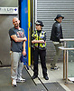 Sadia Khan at London&rsquo;s Night Tube launch at Brixton tube station, London, Great Britain <br /> 19th August 2016 <br /> <br /> British Transport Police on duty at the station <br /> <br /> Sadia Khan, mayor of London,  launched the first night tube service and travelled on a tube train between Brixton and Walthamstow on the Victoria Line. <br />  <br /> He launched the first 24 hour Friday and Saturday night services on the Central and Victoria lines <br /> <br /> Photograph by Elliott Franks <br /> Image licensed to Elliott Franks Photography Services