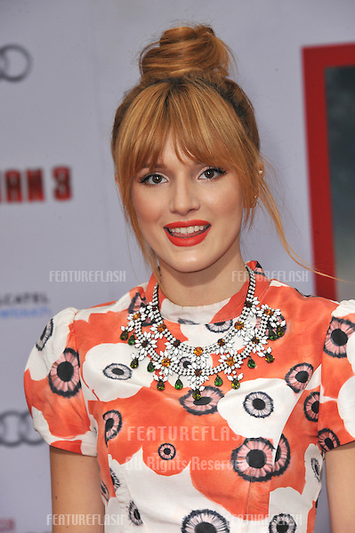 """Bella Thorne at the Los Angeles premiere of """"Iron Man 3"""" at the El Capitan Theatre, Hollywood..April 24, 2013  Los Angeles, CA.Picture: Paul Smith / Featureflash"""