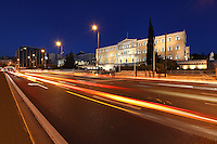 The Greek parliament on Syntagma square in Athens, Greece
