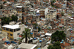 South America, Brazil. Rio de Janiero. Housing in favela of Rocinho.