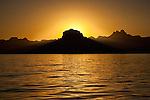 The sun falls over the Baja Peninsula