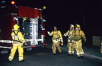 870000333 fire crews work through the night to contain the topanga wildfire as it threatens neighborhood homes in the agoura hills in los angeles county california