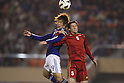 (L to R) .Yuya Osako (JPN), .Mohamad Daas (SYR), .NOVEMBER 27, 2011 - Football / Soccer : .Men's Asian Football Qualifiers Final Round .for London Olympic Games .between U-22 Japan 2-1 U-22 Syria .at National Stadium, Tokyo, Japan. .(Photo by YUTAKA/AFLO SPORT) [1040]