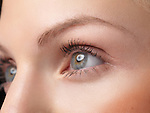 Closeup of a young woman's eyes