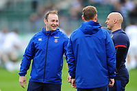 Bath Rugby first team coach Darren Edwards looks on during the pre-match warm-up. European Rugby Challenge Cup Quarter Final, between Bath Rugby and CA Brive on April 1, 2017 at the Recreation Ground in Bath, England. Photo by: Patrick Khachfe / Onside Images