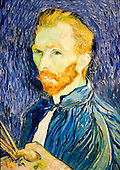 National Gallery, Washington DC. Self portrait by Van Gogh
