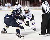 Sean Orlando (Trinity - 16), Paul Steinig (Williams - 4), Roger Grondin - The Williams College Ephs defeated the Trinity College Bantams 4-2 (EN) on Tuesday, January 7, 2014, at Fenway Park in Boston, Massachusetts.