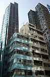 Hong Kong urban scene - highrise apartment buildings