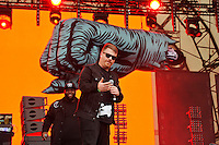 LONDON, ENGLAND - JULY 15: Killer Mike and El-P of 'Run The Jewels' performing at Lovebox, Victoria Park on July 15, 2016 in London, England.<br /> CAP/MAR<br /> &copy;MAR/Capital Pictures /MediaPunch ***NORTH AND SOUTH AMERICAN SALES ONLY***