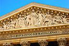 Paris - France - the Forum Church of St Magdelaine - close up of freeze