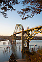 Yaquina Bay Bridge, Newport, central Oregon Coast.