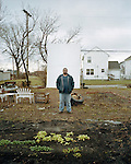 Mark Covington standing in the community garden he fathered. Georgia Steet Community Garden, Detroit, Michigan, February, 18, 2009