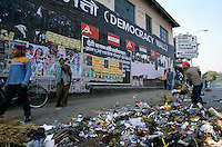 The Democracy Wall, surround by garbage in the heart of the capital Kathmandu Nepal..-The full text reportage is available on request in Word format