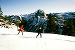 California: Yosemite, Cross Country Ski, skiers, model released, photo: skicrc101 .Photo copyright Lee Foster, www.fostertravel.com, 510/549-2202, lee@fostertravel.com