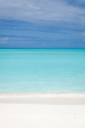 Beach and sky, Midway Atoll (vertical)