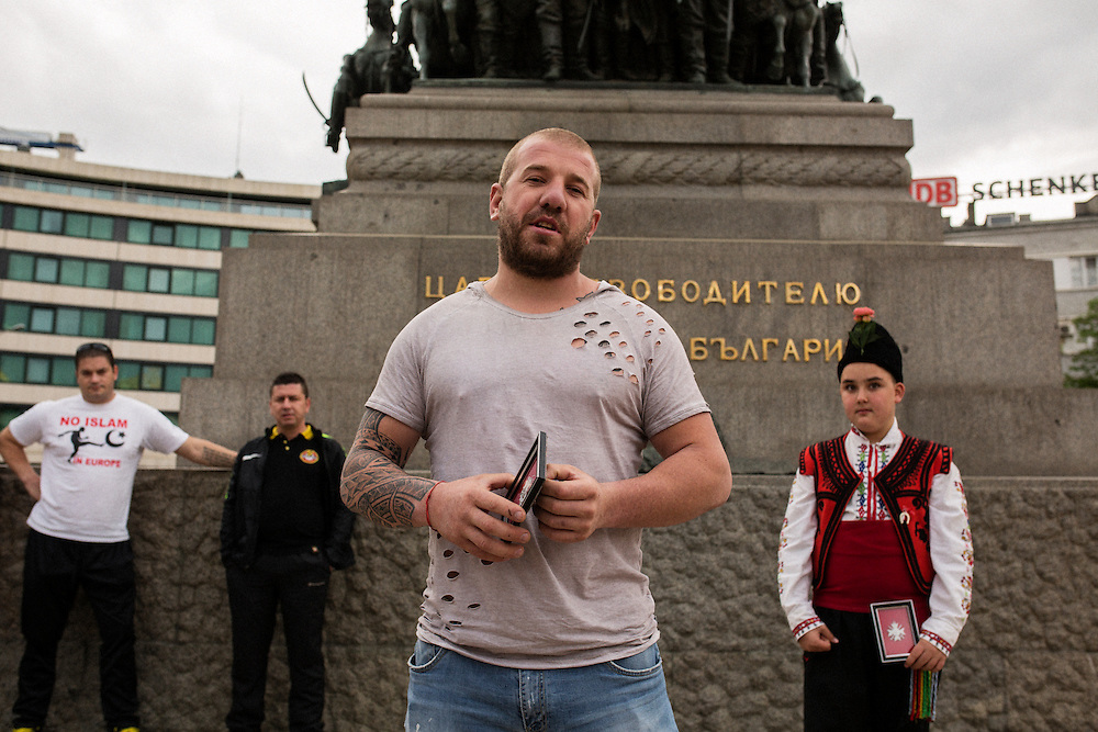 Dinko Valev speaks to the crowd after he was given a &quot;medal of honor&quot; at a rally in Sofia, Bulgaria. <br /> <br /> Matt Lutton / Boreal Collective for VICE