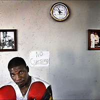 Brian Reed, G-Town Boxing, Greenville Mississippi. Image from the American Diversity Project documenting life in the Mississippi Delta.