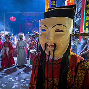 Celebrations of the sacred Hungry Ghost festival in Penang, Malaysia