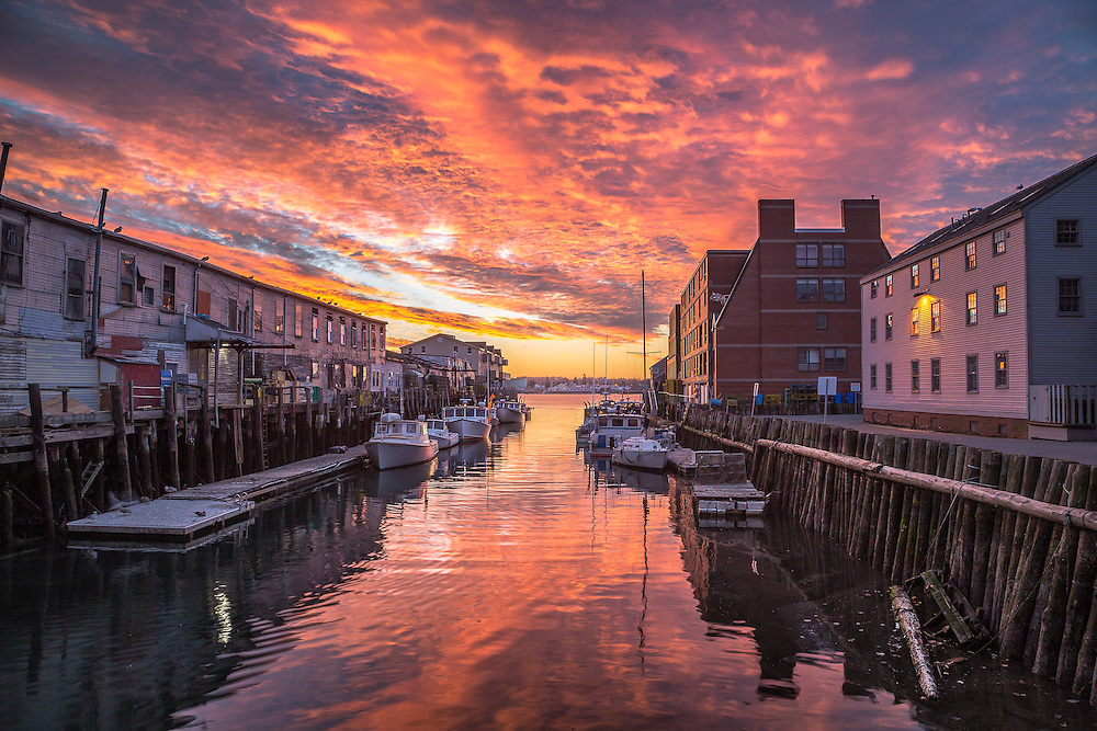 Portland Harbor Sunrise Coast Of Maine Photography By