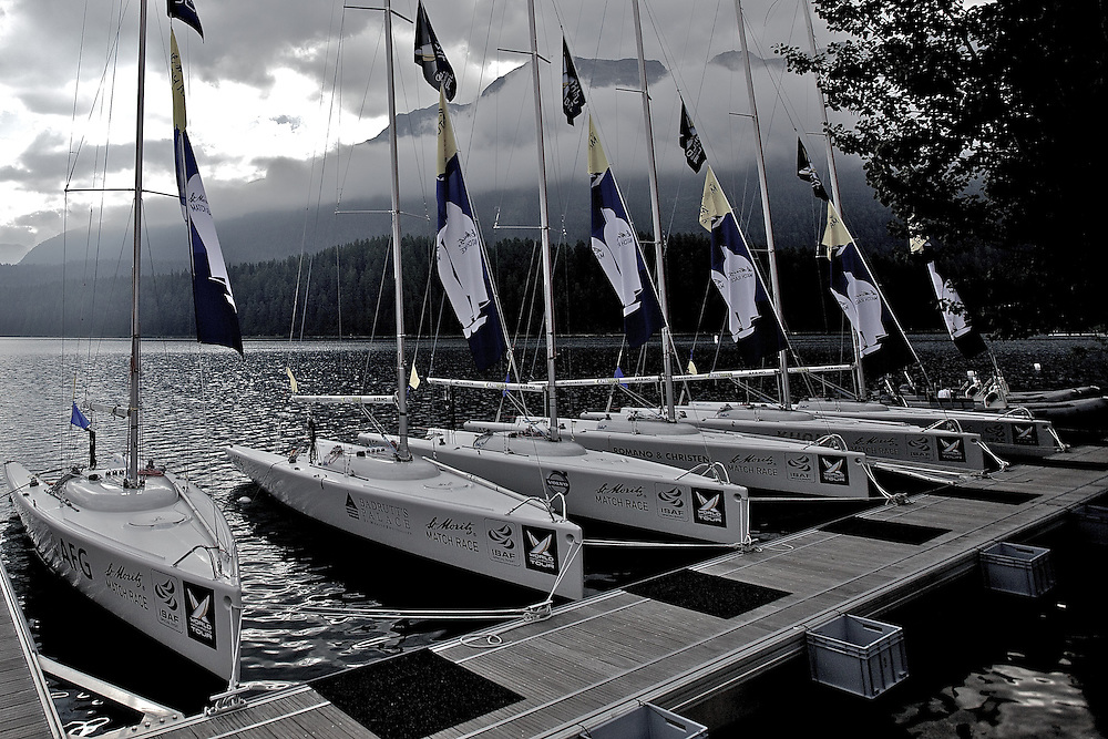 St Moritz Match Race 2010. World Match Racing Tour. St Moritz, Switzerland. 4th September 2010. Photo: Ian Roman/Subzero Images