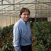 Helmy Abouleish, Managing Director of the leading Egyptian Organic foods and products producer, Sekem Group, poses for a portrait inside one of the greenhouses at the Sekem farm Nov 4, 2008 in Belbeis, Egypt. Helmy's father, Dr. Ibrahim Abouleish founded the project in 1977 on what was then barren desert, and since has grown it into a lush oasis ecompassing several farms, production plants, schools and even a local medical facility.